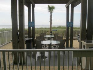 Ocean Villa Resort condo photo - BBQ Grill/Picnic Area Next To Pool