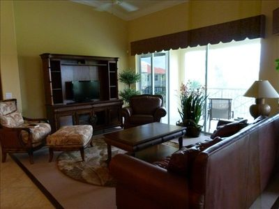 Living Room includes 55' HDTV, DVR, Sound System. Unit includes WiFi & print