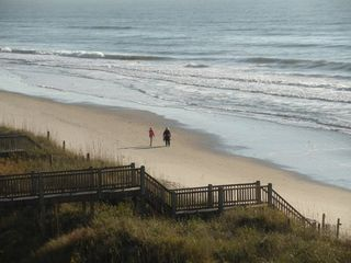 North Topsail Beach house photo - Your view from the balcony from your penthouse suite.