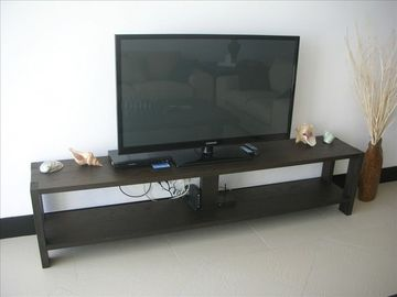 "Samsung large 50"" flat screen TV with cable and DVD player in living room"
