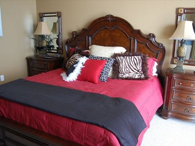 "Master Suite offers King Bed with Luxury Linens and 32"" LCD HDTV!"