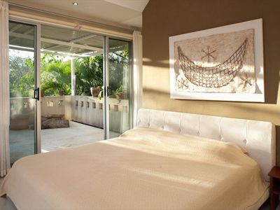 Master Bedroom with King Bed and large private balcony