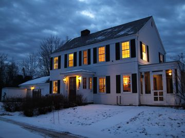 The well-appointed home is a cozy place to enjoy a Vermont's winter eve.
