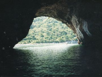 Arch at Los Arcos Accessible by Kayak