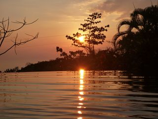 Dominical villa photo - Sunset from Pool
