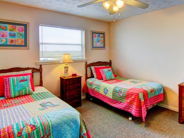 Fun and beachy guest bedroom