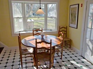 Edgartown house photo - Casual Dining Area Has Large Bay Window & Backyard Views