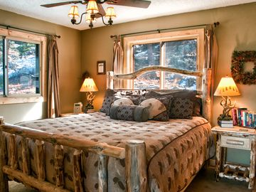 King log bedroom with attached bath.