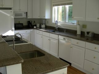 Boothbay Harbor house photo - Kitchen- Granite Counters 2 Sinks, Jenn Air Range