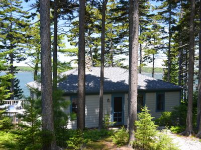 Friendship cottage rental - The cottage, looking out on Muscongus Bay