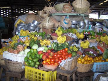 Get your fruits and veggies from our local market.