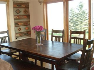 Bozeman house photo - Enjoy a casual meal watching the sunset and its afterglow on Mt. Baldy.
