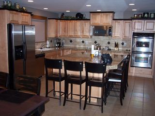 Sunriver house photo - Gourmet Kitchen: stainless appliances, 2 ovens, 2 dishwashers and island seating