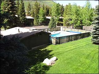 Vail townhome photo - Pool and Mountain Views from Master Balcony