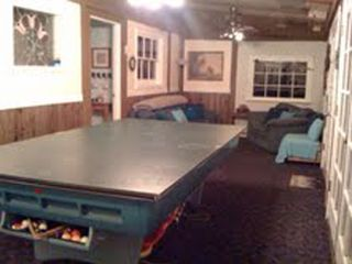 Big Bear Lake chalet photo - Playroom w Xbox, Wii, ping pong, HDTV, DVD & forest view