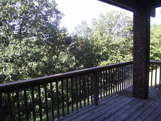 Branson condo photo - Back deck overlookinig the bluffs