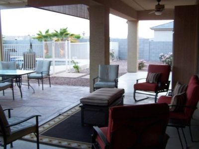 Outside patio area
