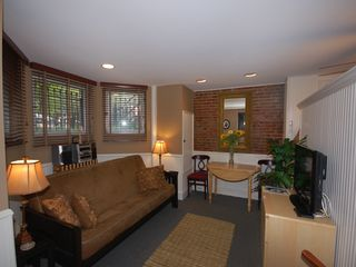 Logan Circle apartment photo - The living area includes a Queen sized futon sofa.