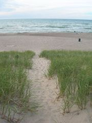 Michigan City house photo - Path to the beach during the day