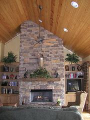 Highlands house photo - Cozy up to the fire or watch a DVD from our library