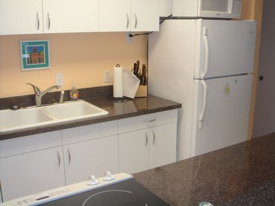 Updated kitchen with all appliances, dishes, pots/pans and utensils