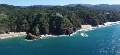 View of Casa Melissa from the ocean by drone 12-15