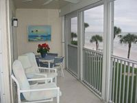 Directly on Ft. Myers Beach, 2nd Floor End Unit with Garage