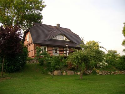 Fachwerkhaus Sudeblick with south terrace, fireplace, infrared sauna on the Elbe