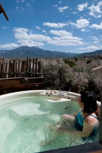 Taos Mountain From Our Secluded Hot Tub