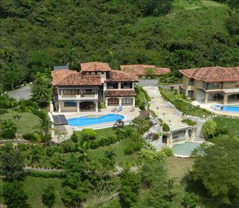Samara villa rental - Luxury villa in vast tropical jungle.Great fountain/waterfall next to our deck!