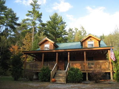 Cozy log cabin in the white mountains vacation rental in for New hampshire log cabins
