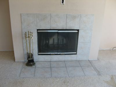 Watsonville condo rental - Fireplace for a cozy evening