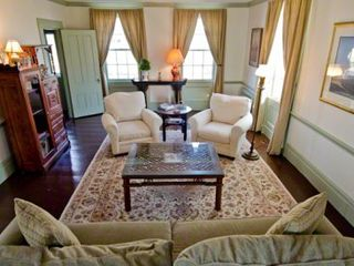 Edgartown house photo - Living Room Main Seating Area Has Sofa & Wingback Chairs