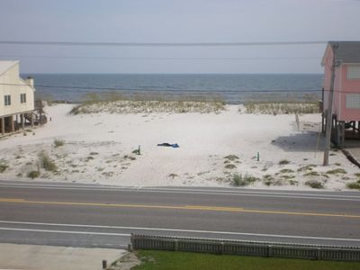 View of the beach and gulf from one of the two decks facing the beach
