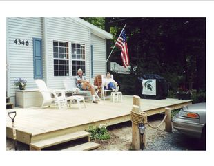 Stony Lake cottage photo - Deck with Grill