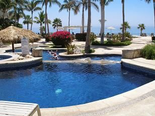 San Jose del Cabo condo rental - Upper pool for adults only ( one of three pools on the resort).