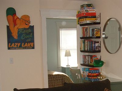 Belfast house rental - Plenty of games, books and movies for all ages.
