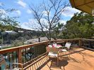 Your private lakeside deck - perfect for morning coffee