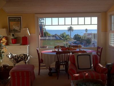 FABULOUS View OF Beach, VILLAGE PLEASURE PT. SURF BREAK from Dining/Living Area