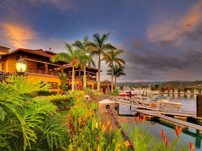 View of the Los Suenos Marina Village in the Resort.