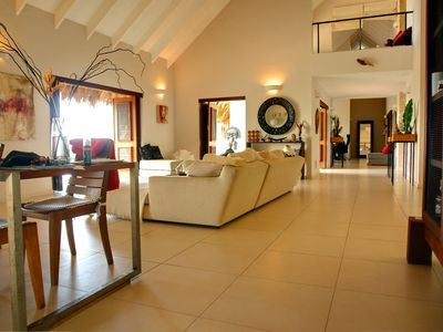 Las Terrenas house rental - indoor dining area and lounge