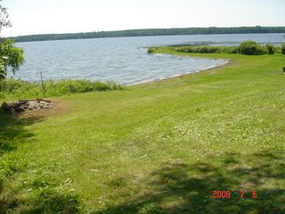 Cross Lake cabin photo - Front lawn overlooking the beach