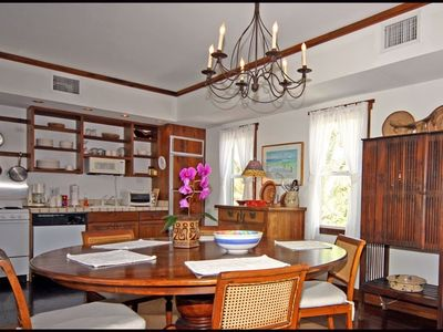 dining kitchen area. Fruit wine and cheese are complimentary.