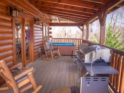 Relax in the hot tub or sit on the deck & listen to our soothing waterfall!