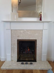 Cosy up by the real flame gas fire