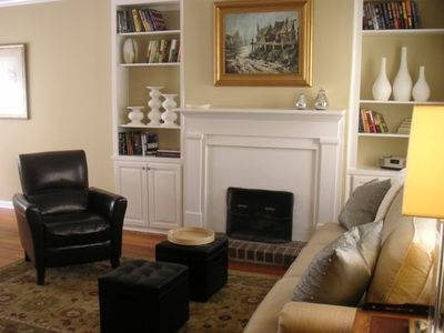 Living room provides a comfortable place to relax.