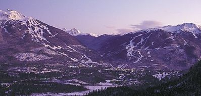 Blackcomb and Whistler Mountains