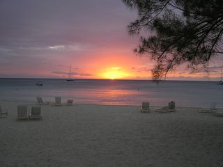 Grand Cayman condo photo - Magnificent Plantana Beach sunset