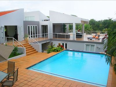 Pool and Terrace at our Exclusive Luxury Mansion