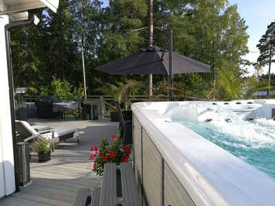 New House in Archipelago, Heated Jacuzzi and pool with a large terace of 150 sqm